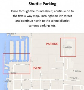 Classic Parking and Event map